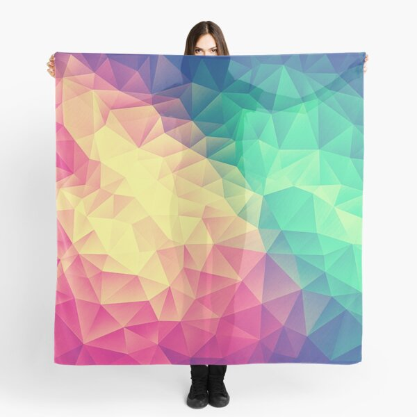 Abstract Polygon Multi Color Cubism Low Poly Triangle Pride / LGBT Design Scarf