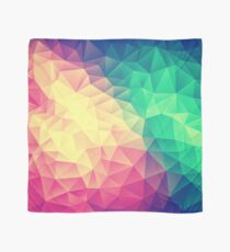 Abstract Polygon Multi Color Cubism Low Poly Triangle Design Scarf