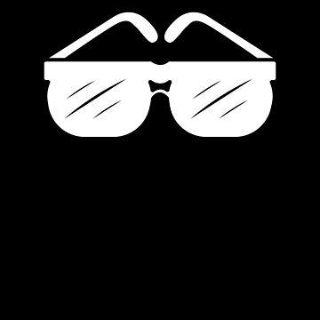 White Shades Glasses sunglasses Tshirt by we1000