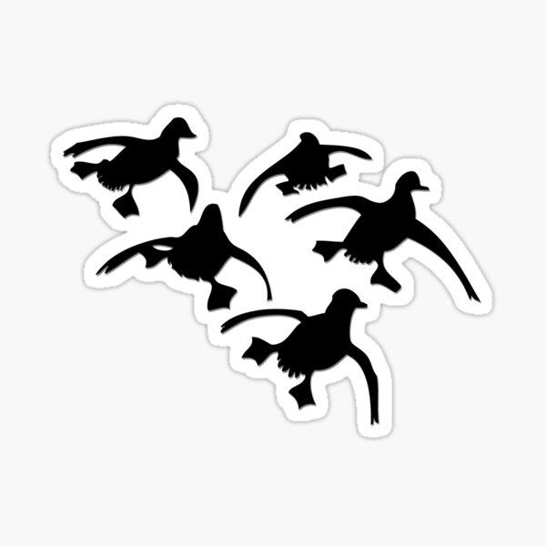 Flying Ducks Landing Hunting Sticker