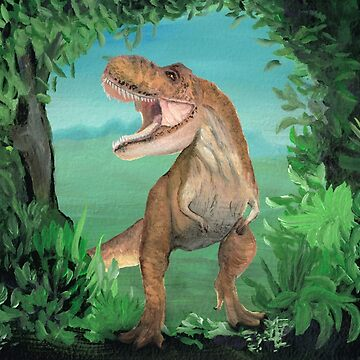 T Rex Dinosaur Storms the Prehistoric Forest by MelissaB