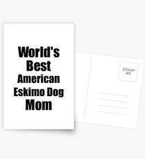American Eskimo Dog Mom Dog Lover World's Best Funny Gift Idea For My Pet Owner Postkarten
