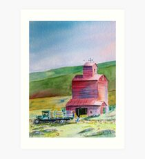 Hay Barn - Everyday Heroes  Art Print