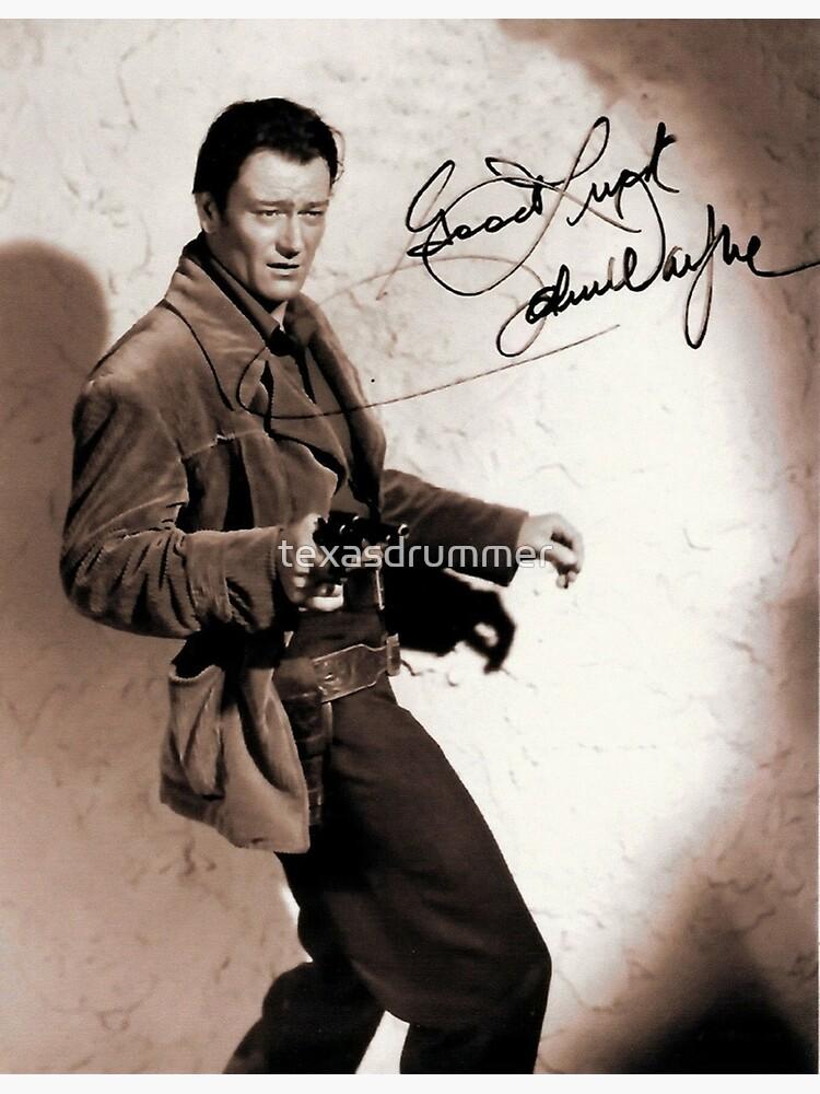 John Wayne by texasdrummer
