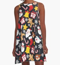 Cool Christmas Collage A-Line Dress