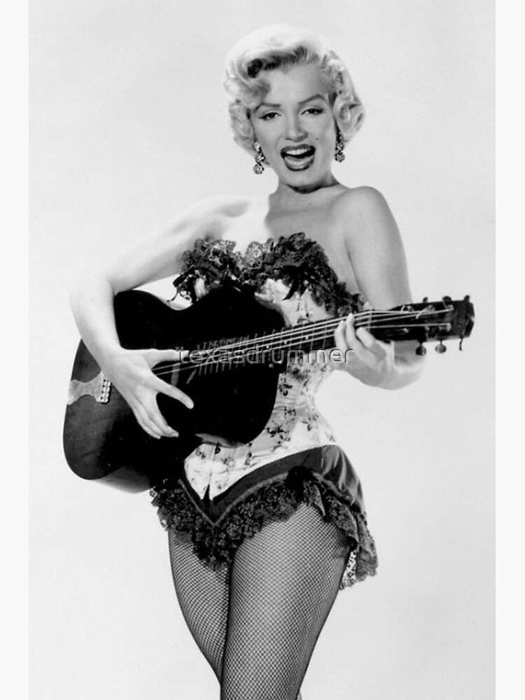 Marilyn with Guitar by texasdrummer