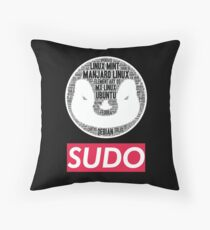Sudo linux pengu Throw Pillow