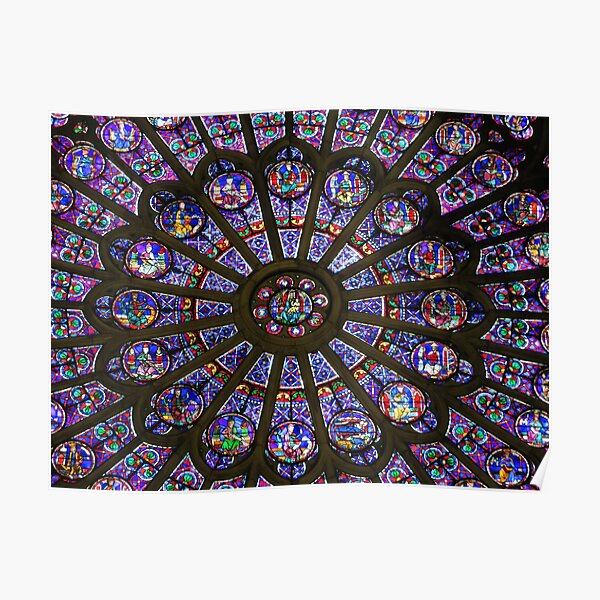 Rose Window of Notre Dame Poster