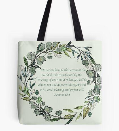 Romans 12:2 Tote Bag