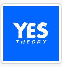 blue yes theory Sticker