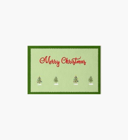 Merry Christmas Trees Stitches Art Board