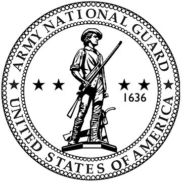 Army National Guard Logo Seal - Black & White by branpurn