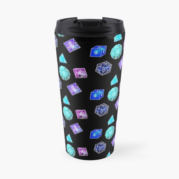 Neon dice Travel Mug