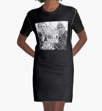 Straight Outta Scranton Graphic T-Shirt Dress