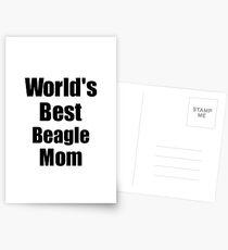 Beagle Mom Dog Lover World's Best Funny Gift Idea For My Pet Owner Postkarten