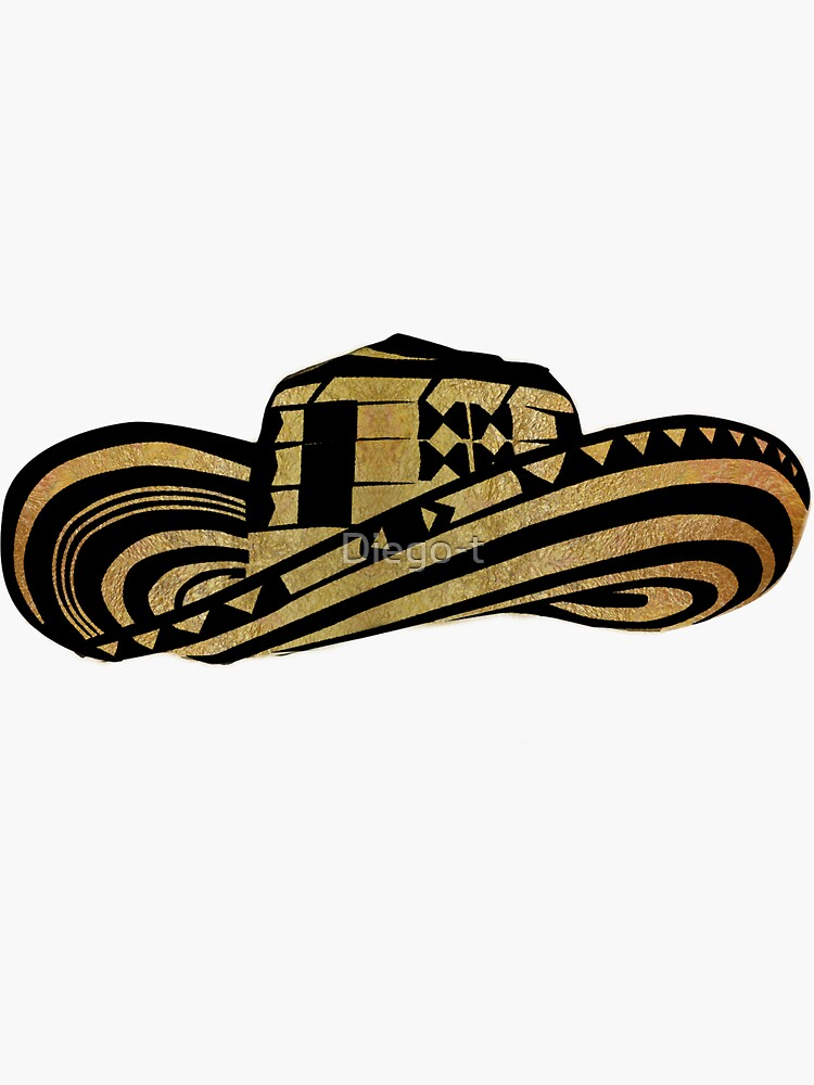 ffb1b0e10ad Colombian Sombrero Vueltiao in Gold Leaf and Black Ink