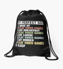 Retro Vintage My Perfect Day Drawstring Bag