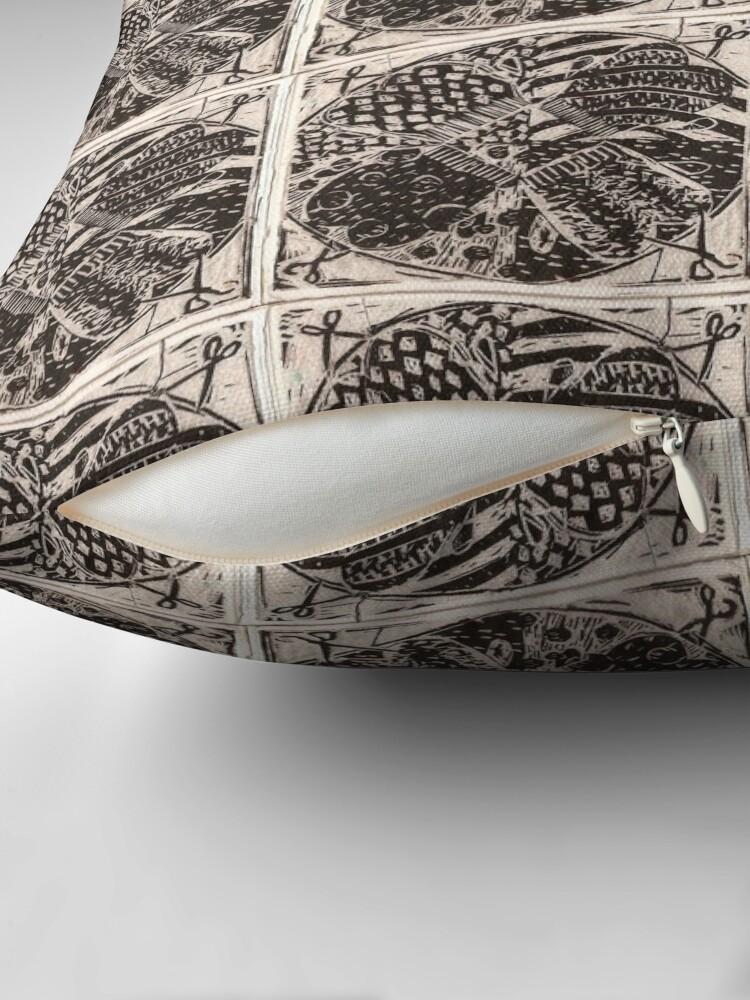 Alternate view of Mitten Mandala Throw Pillow
