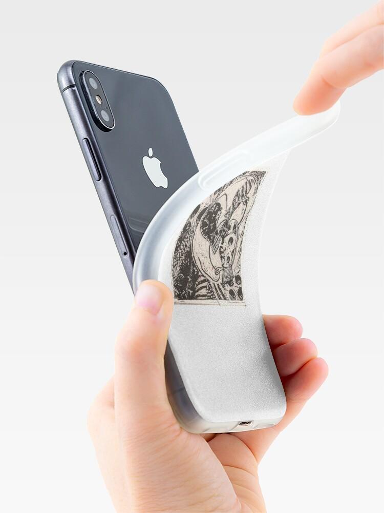 Alternate view of Mitten Making  iPhone Case