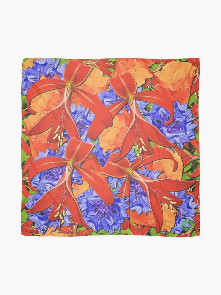 Alternate view of D1G1TAL-M00DZ ~ FLORAL ~ Summer Garden by tasmanianartist 121218 Scarf