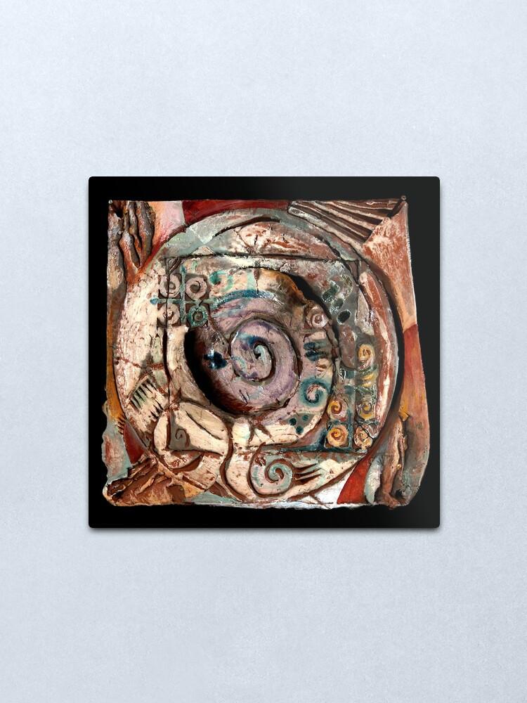 Alternate view of Centering Metal Print