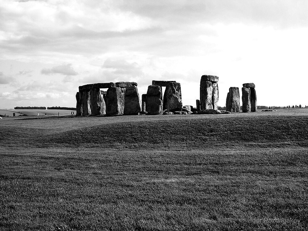 Great Britain. Stonehenge in Black and White 2009 by Igor Pozdnyakov