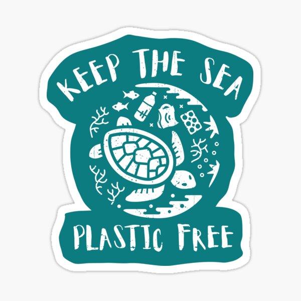 Keep The Sea Plastic Free - Turtle Sticker