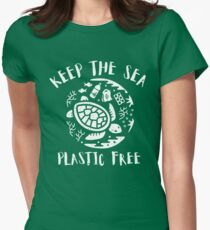 Keep The Sea Plastic Free - Turtle Women's Fitted T-Shirt