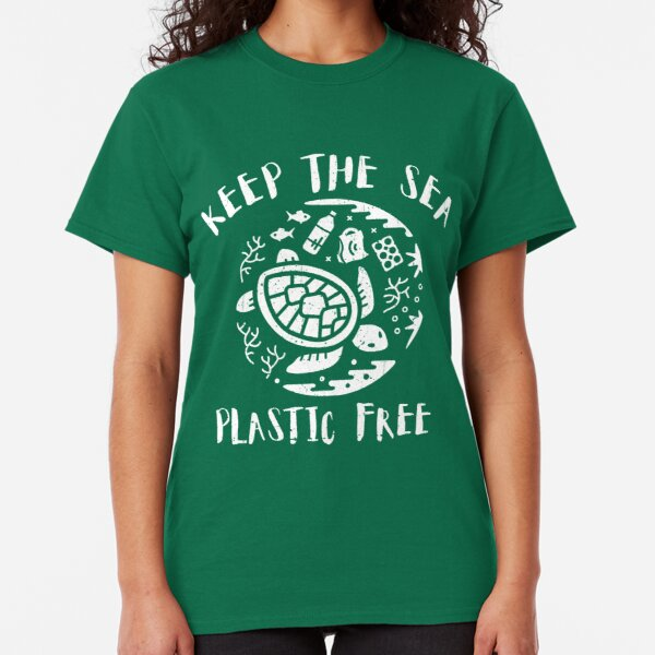Keep The Sea Plastic Free - Turtle Classic T-Shirt