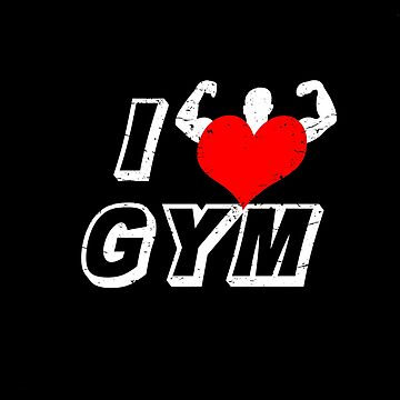 Gym Love Fitness Body Bodybuilding Work Out by MDAM