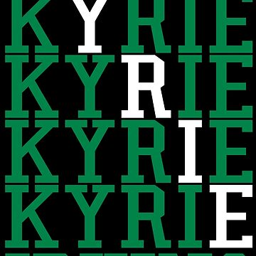 Kyrie Irving Word Art by RatTrapTees