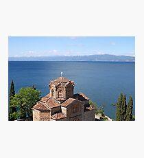 Jovan Kaneo church Lake Ohrid Macedonia  Photographic Print