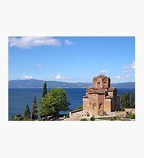 Jovan Kaneo church Ohrid Macedonia summer season Photographic Print