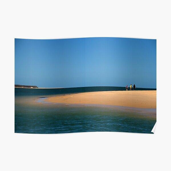 Beach Walk at Inskip Point Poster