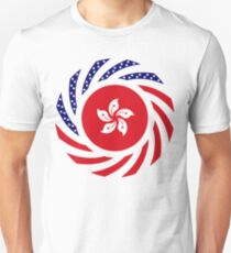 Hong Kong American Multinational Patriot Flag Series Slim Fit T-Shirt