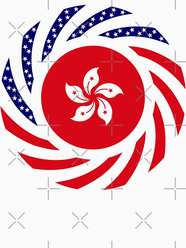 Hong Kong American Multinational Patriot Flag Series by carbonfibreme