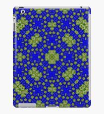 Blue Yellow Pattern iPad Case/Skin