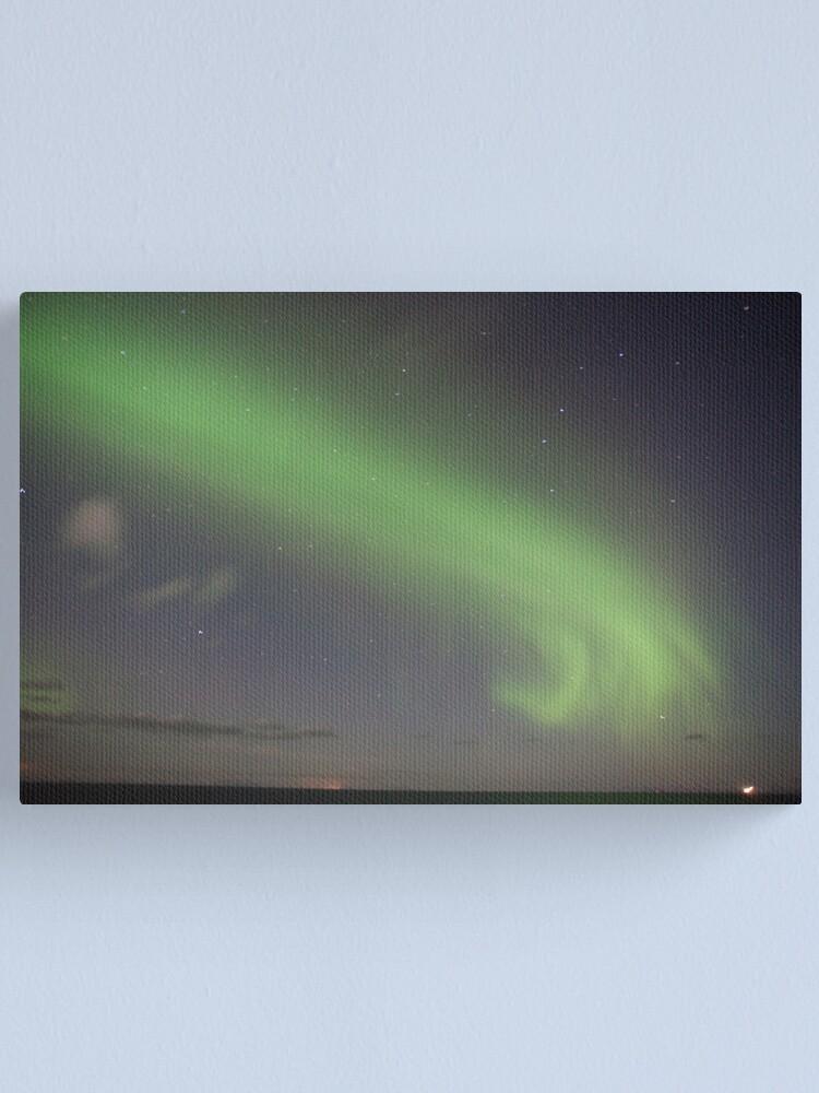 Alternate view of Christmas Night Aurora Canvas Print