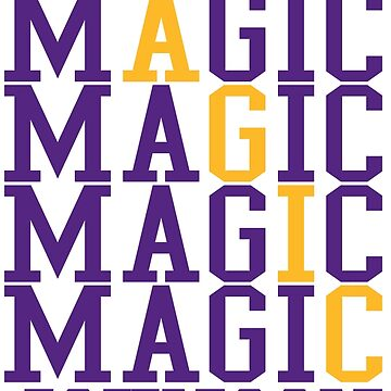 Magic Johnson Word Art by RatTrapTees
