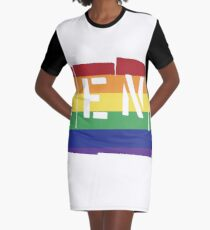 Rent Rainbow Graphic T-Shirt Dress