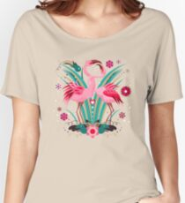 LOVE & FLAMINGO  Women's Relaxed Fit T-Shirt