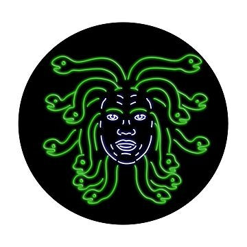 Head of Medusa Oval Neon Sign by patrimonio