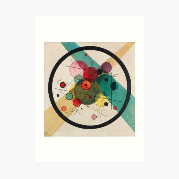 Circles In A circle 1923 Art Print