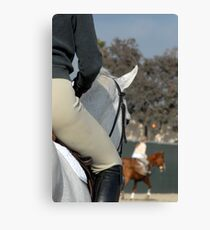 In the warm-up arena Canvas Print