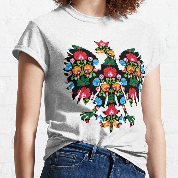 Polish Eagle Folk Art / Wycinanki / Folk Art Flowers / Folklore / Poland  Classic T-Shirt