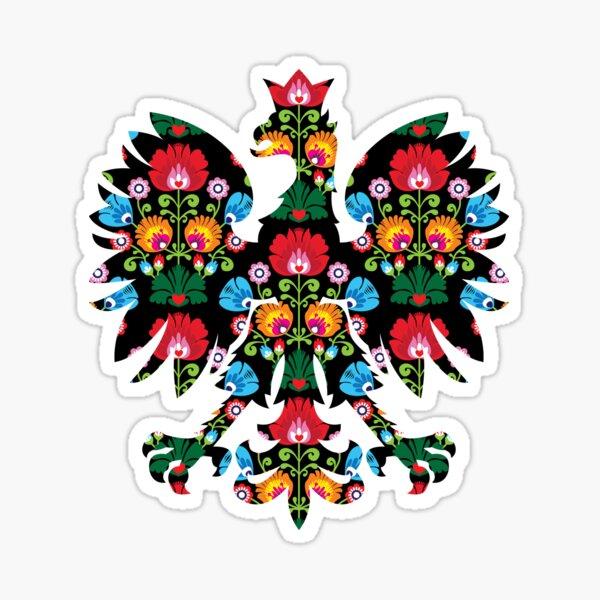 Polish Eagle Folk Art / Wycinanki / Folk Art Flowers / Folklore / Poland  Sticker