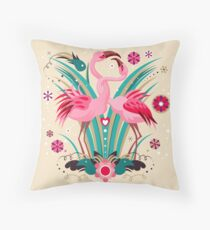 LOVE & FLAMINGO  Throw Pillow