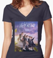 Meteor Garden Tshirt Chinese Drama Women's Fitted V-Neck T-Shirt
