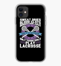 Buttercup Tough Girls Lacrosse - Funny Lacrosse Quotes Gift iPhone-Hülle & Cover