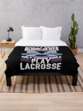Buttercup Tough Girls Lacrosse - Funny Lacrosse Quotes Gift Fleecedecke